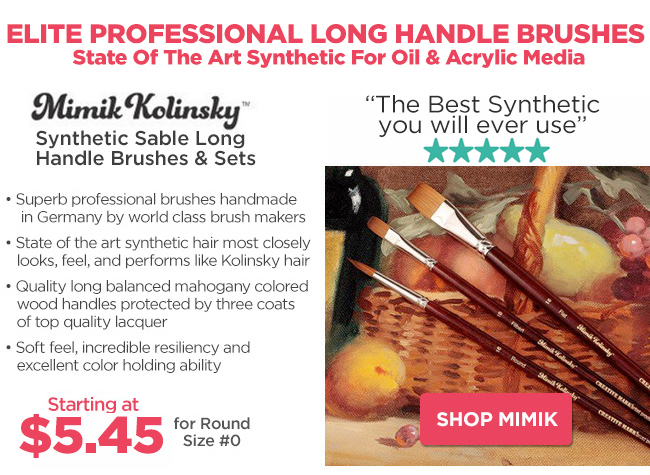 Mimk Kolinsky Long Handle Brushes